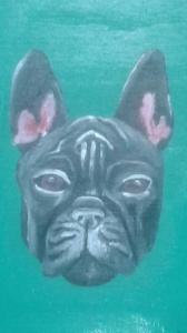 Detail of French Bull Dog.